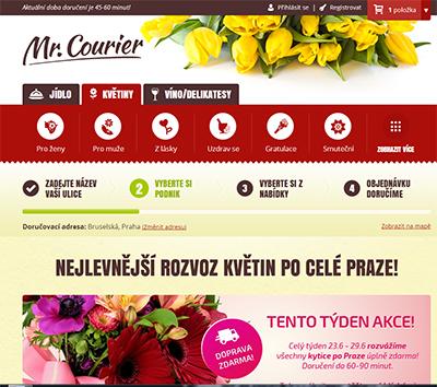 Rozvoz květin, delikates a jídla po Praze